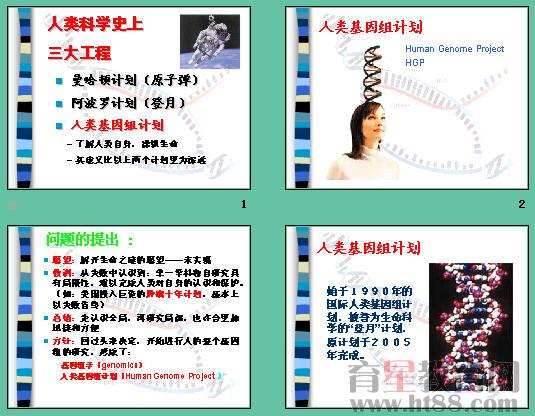 人类基因组计划ppt 人教课标版