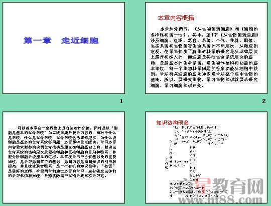 2011-2012学年高一生物必修1同步课件ppt(从
