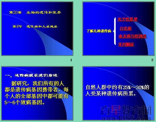 常见遗传病_遗传病和人类健康ppt1 北师大版